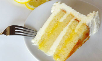 Lemon Cake Slice Filling